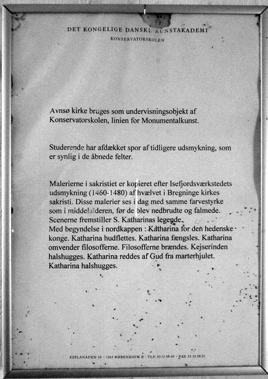 De nye kalkmalerier i Aunsø gamle Kirke