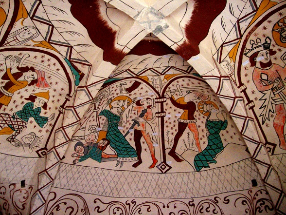 Nye Kalkmalerier i Aunsø gamle Kirke 2