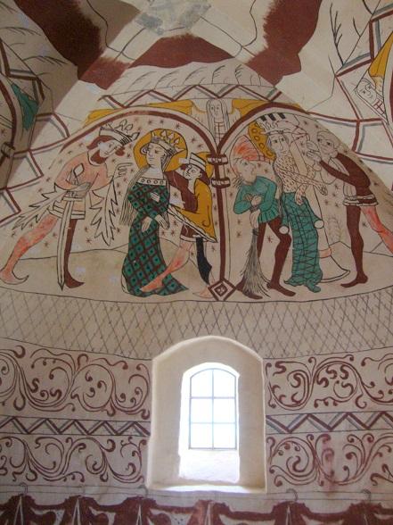 Nye Kalmalerier i Aunsø gamle Kirke 3