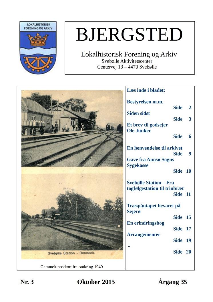 Medlemsbladet oktober 2015 forside