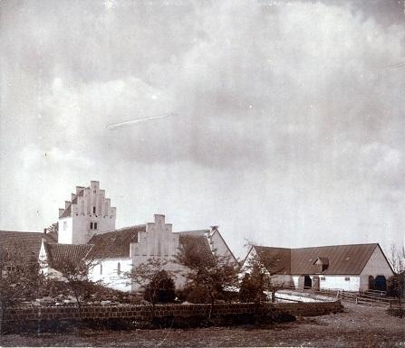 Aunsø gamle Kirke da den endnu var i brug