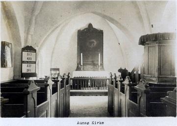 Aunsø gamle Kirke indvendig