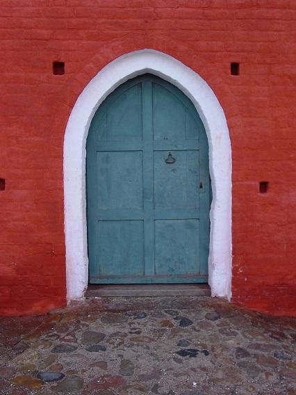 Bregninge Kirke - Døren til våbenhuset - 26. feb. 2013. Foto: Flemming Paulsen