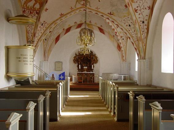 Bregninge Kirke indvendig - 26. feb. 2013. Foto: Flemming Paulsen