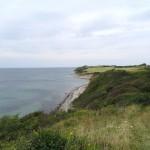 Den karakteristiske kystprofil mod vest.