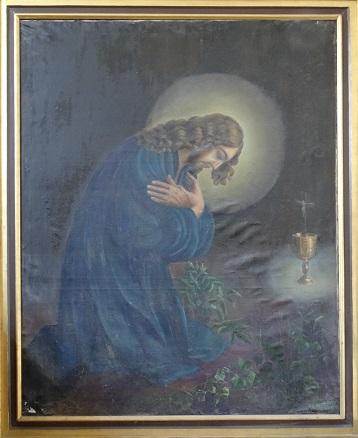 Mariane Frederikke Stub 1789-1842 - Kristua i Getsemane 128 x 159 cm red. A