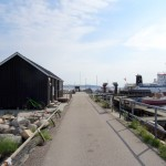 Nekselø Havns passagerly set fra landsiden.