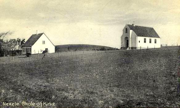 Nekselø skole og Kirke.