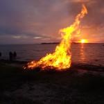 Sankt Hans på Havnsø Østerstrand d. 23. juni 2014