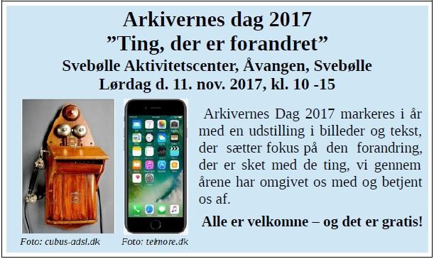 Arkivernes Dag d. 11. nov. 2017 A