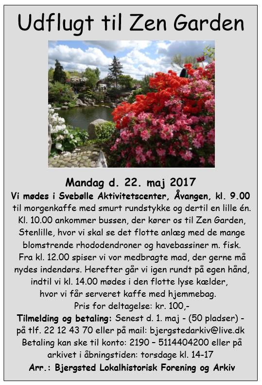 Arrangement - Udflugt til Zen Garden