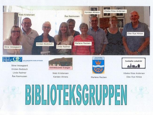 Svebølle Aktivitetscenters Biblioteksgruppe.  Bjergsted Lokalhistorisk Forening og Arkiv er repræsenteret ved Marlene Eide Paulsen og Benny Jørgensen - Sidstnævnte er ikke med på billedet.