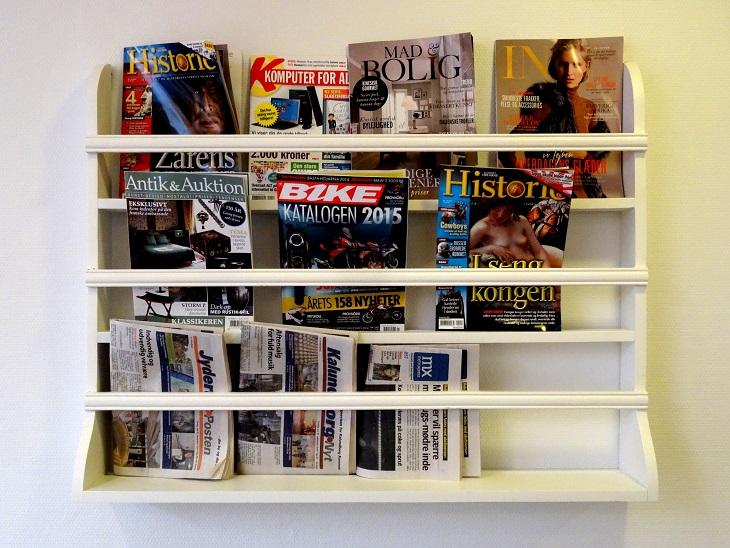 Avis- og tidsskriftshylden