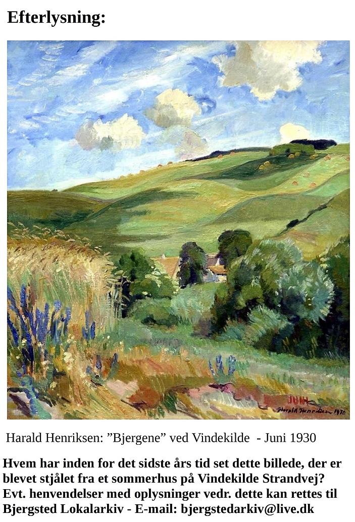 Stjålet maleri - malet af Harald Henriksen .