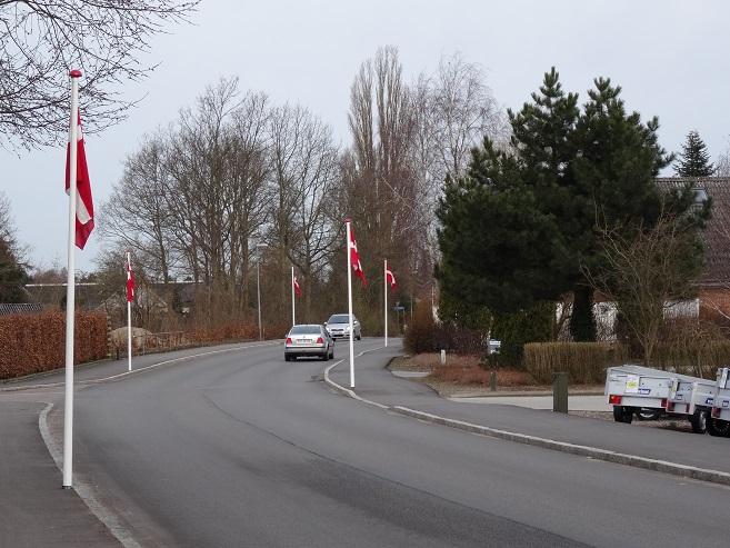 Stationsvej i Svebølle set mod vest. Foto: F.P.