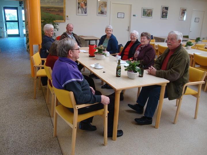 I løbet af dagen blev der da også tid til en hyggelig snak. Foto: F.P.