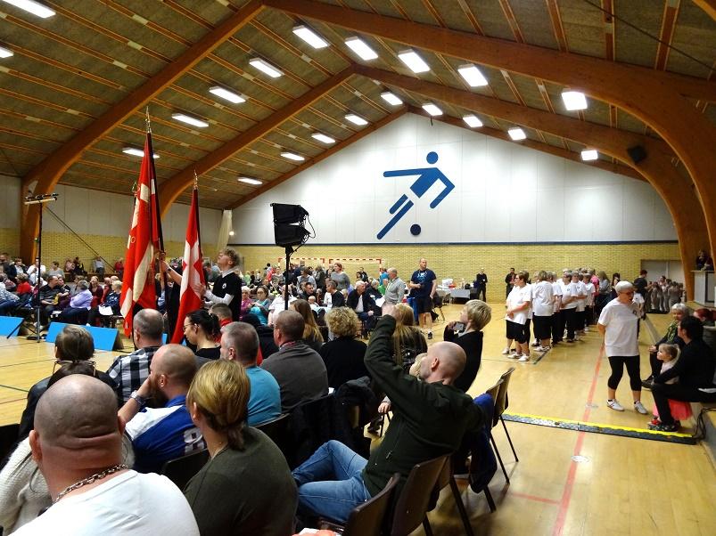 Mange var mødt op i Svebølle Hallen for at overvære opvisningen. Foto: F.P.