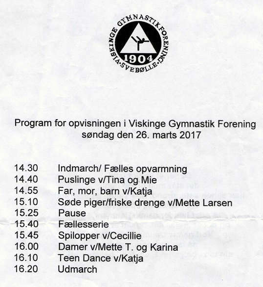 Svebølle Hallen Gymnastikopvisning 2017 A