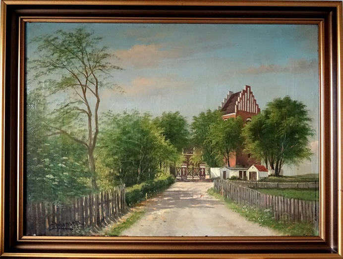 Bregninge Kirke - maleri red B.