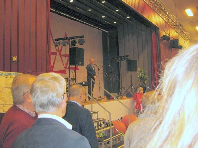 Kalundborg Kommunes borgmester Martin Damm åbner årets Kalundborg Messe. Foto: Inga Jensen