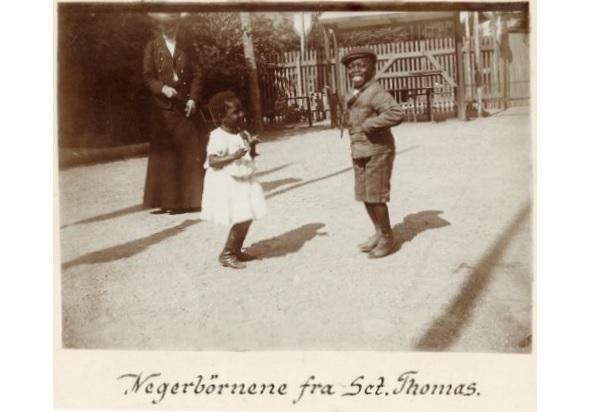 Victor Cornelins og Alberta Viola Roberts fotograferet i 1905 Foto: Nationalmuseet