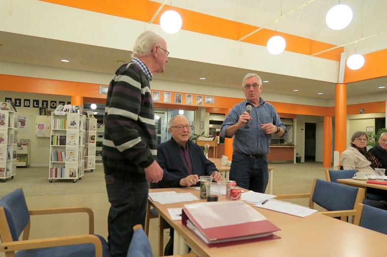 Arkivets kasserer Henning Jensen er klar til at aflægge beretning. Foto: F.P.