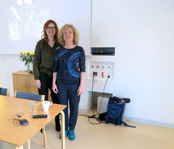 De to foredragsholdere Anna Mejlhede og Anja C. Andersen. Foto: F.P.