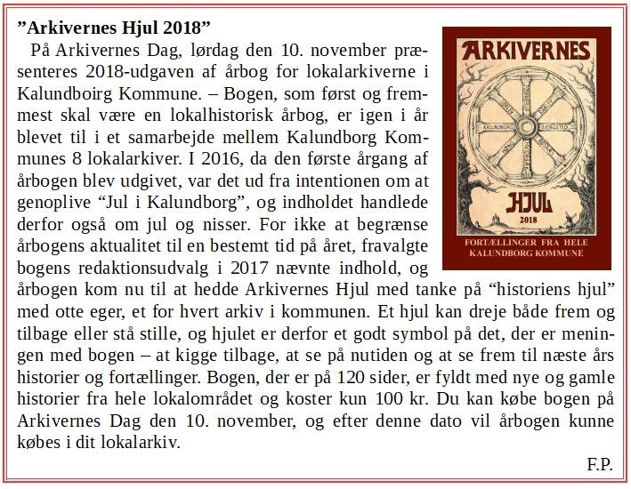Arkivernes Hjul 2018