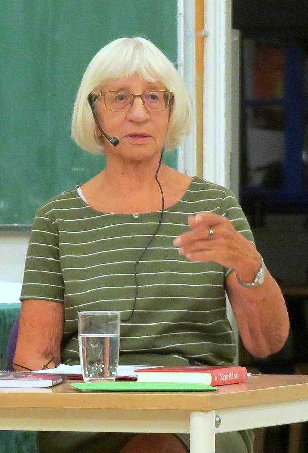 Louise Nielsen i gang med sit foredrag. Foto: F.P.